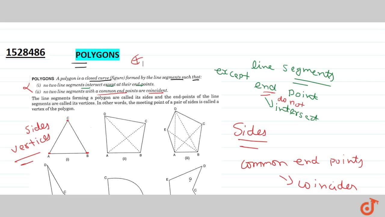 Solution for Polygons a polygon is a closed curve (figure)forme