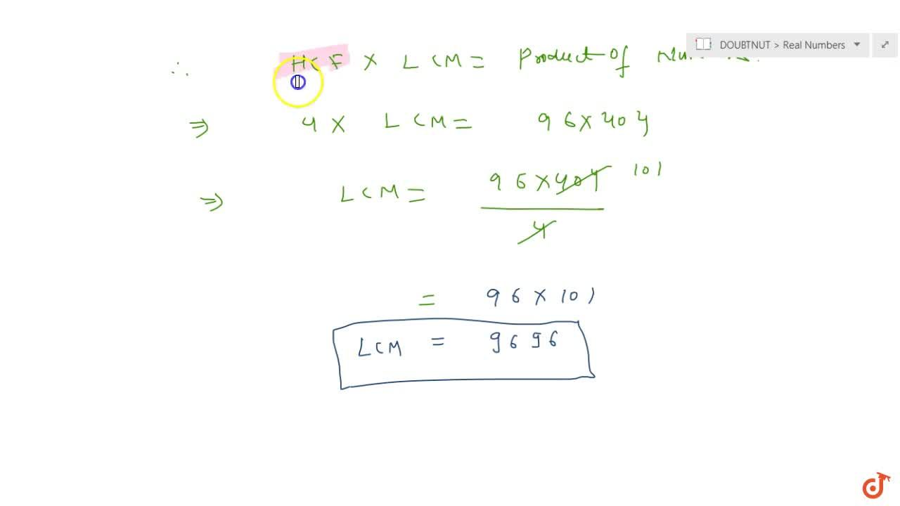 Solution for Find the HCF of 96 and 404 by the  prime factorisa