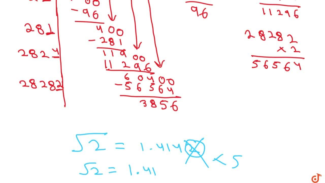 Solution for Find the square root of 2 correct to three   plac