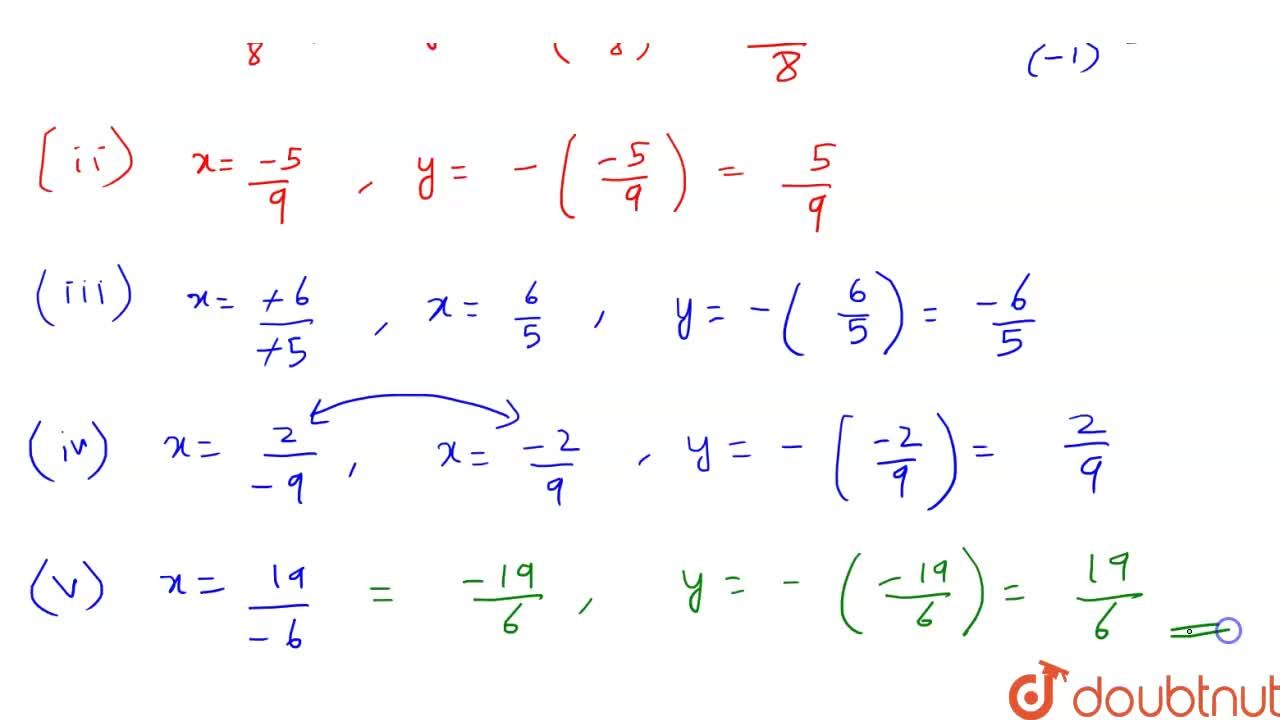 Solution for Write the additive inverse of each of the followin
