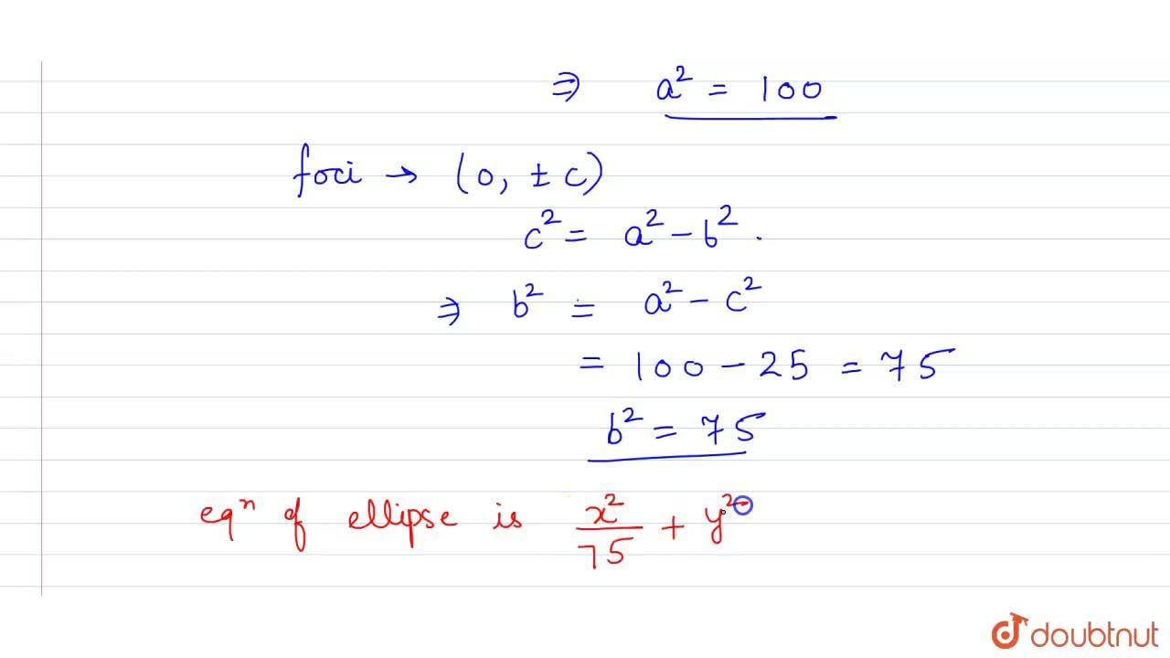 Solution for Find the equation of the ellipse, whose length of
