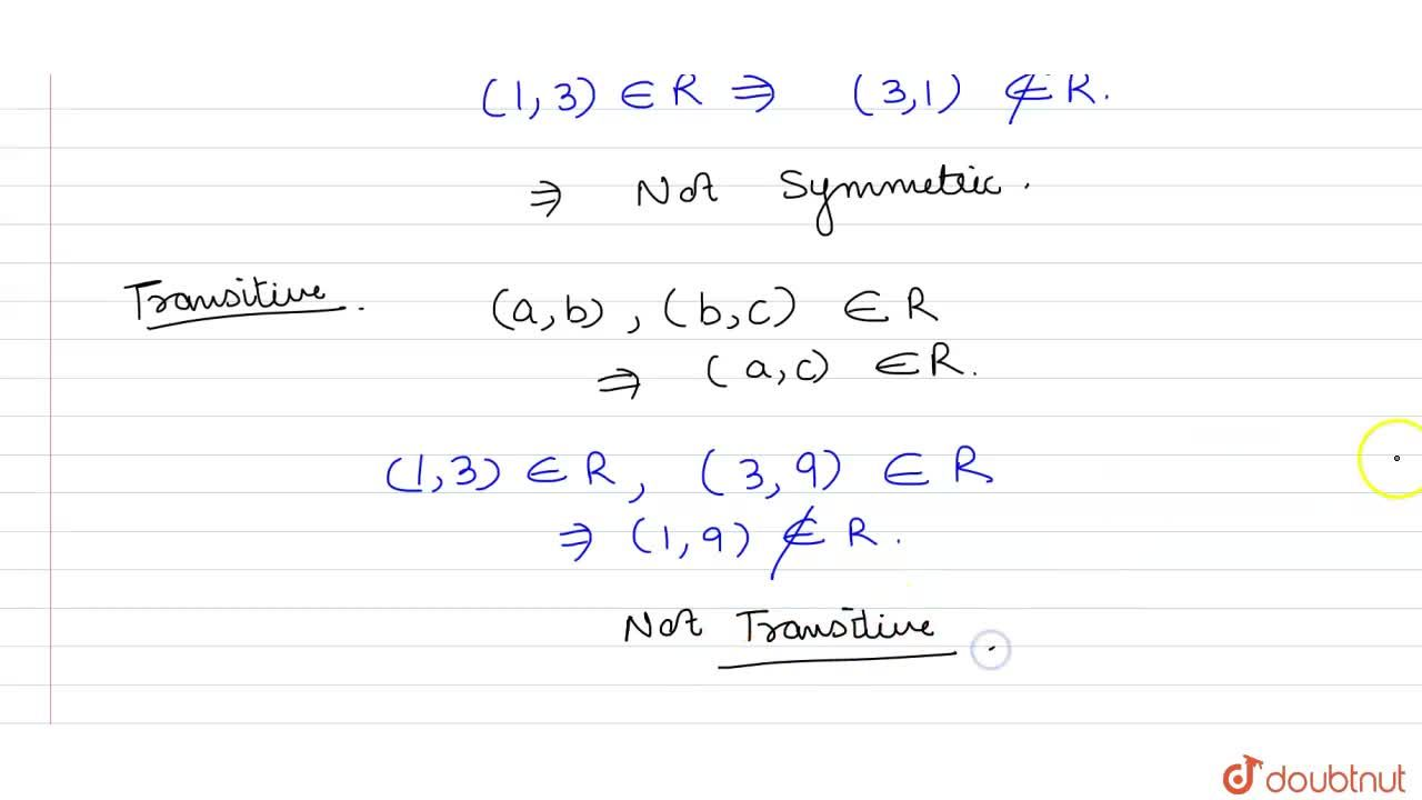 Solution for Determine whether each of the  following relations