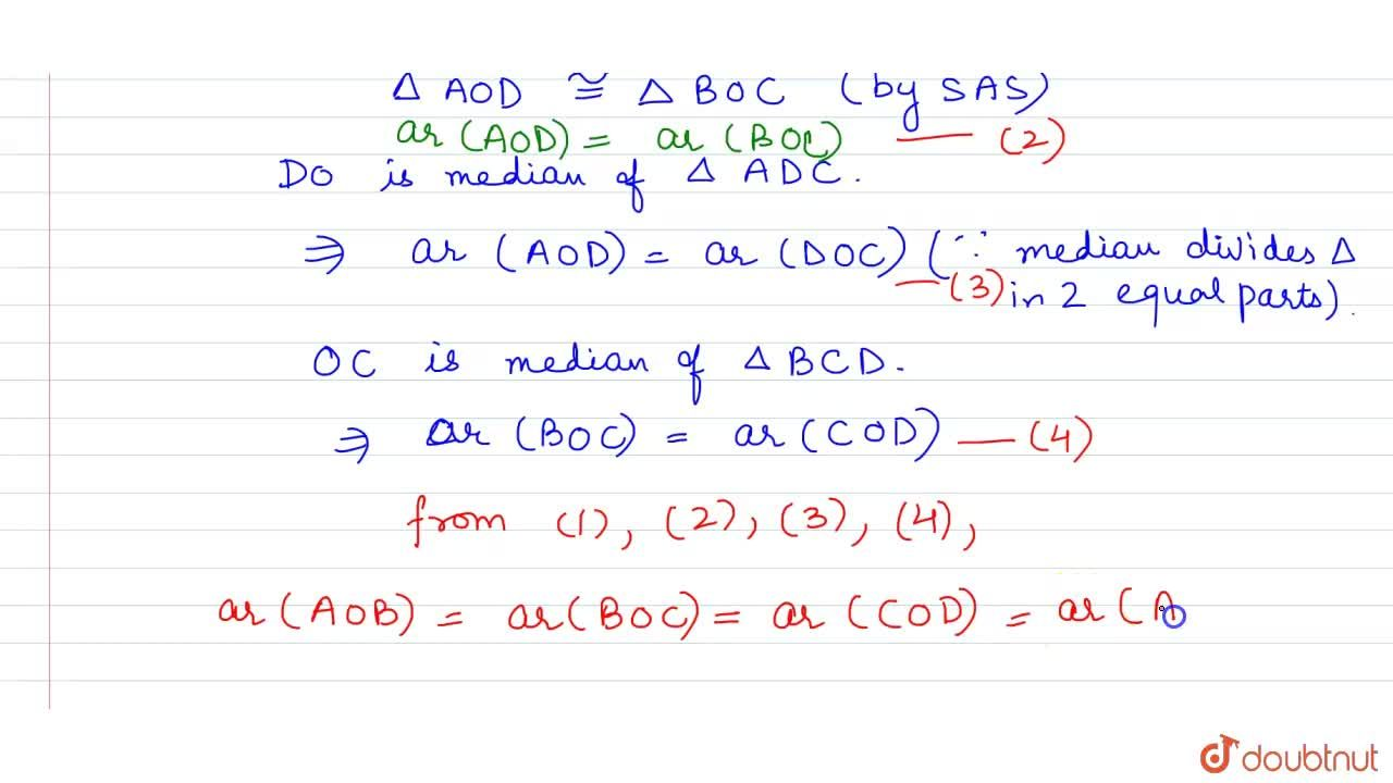 Solution for Show that the  diagonals of a parallelogram divide