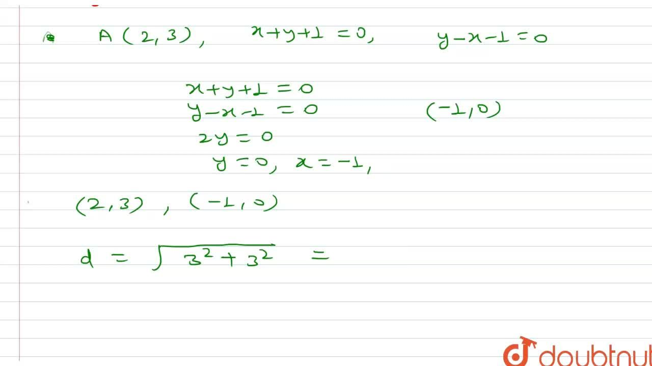 Solution for Find the equation of the line through the point A