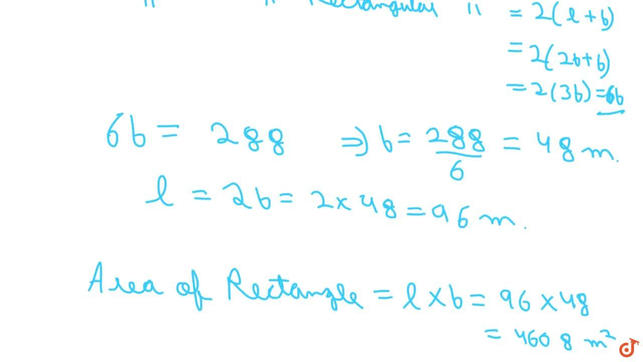 Solution for The area of a square field is 5184 m^2dot A rect