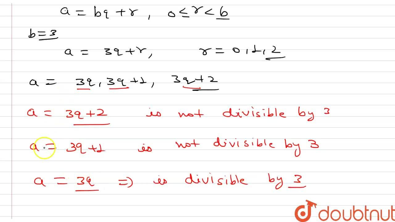 Prove that one of every three consecutive positive integers is divisible by 3.