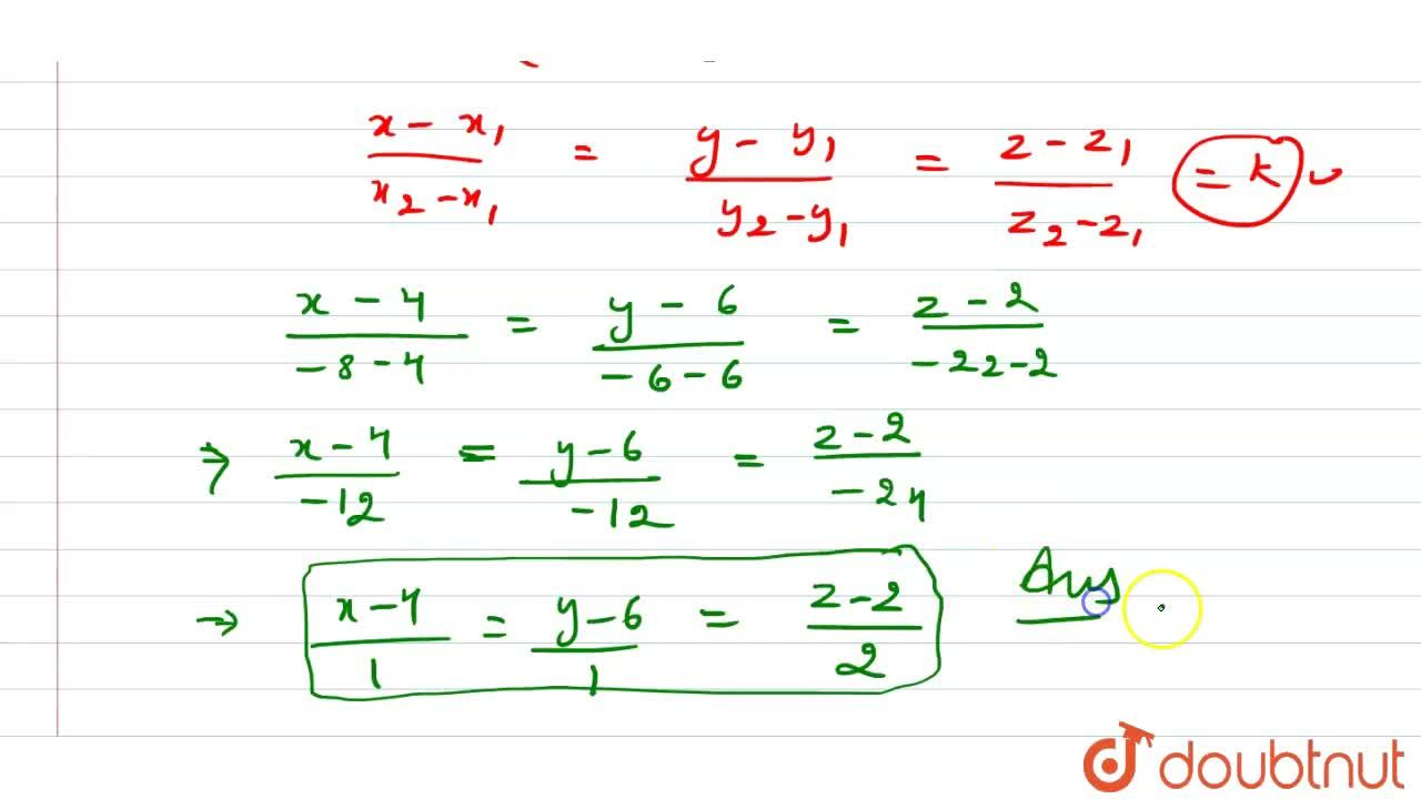 Solution for Find the equation of the line   passing through t