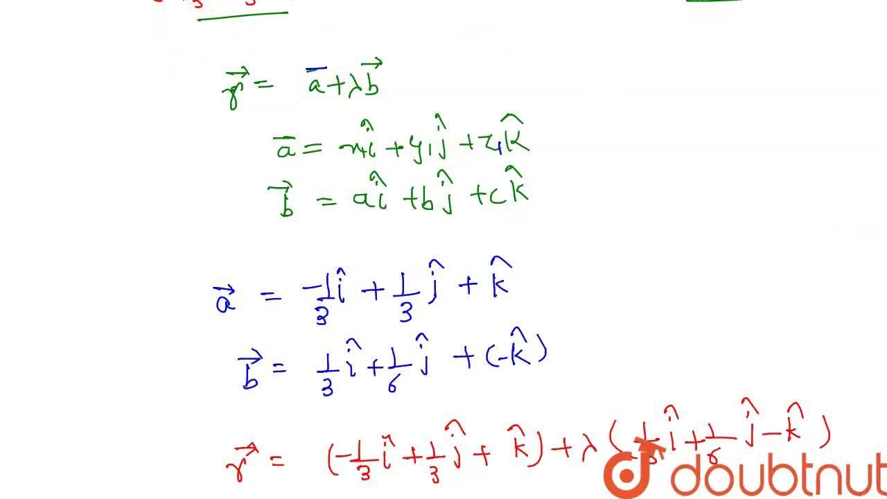 Solution for The Cartesian equations of a line are 3x+1=6y-2=1