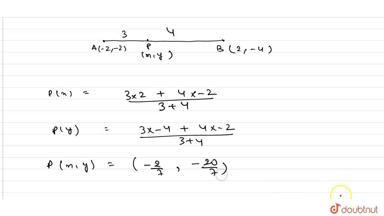 Solution for If A and B are two   points having coordinate