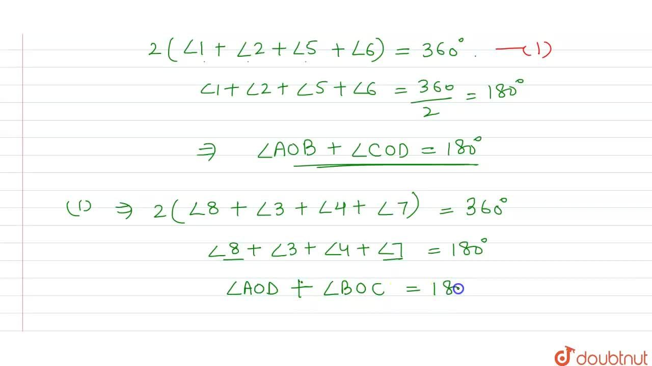 Solution for Prove that opposite sides of a quadrilateral circu