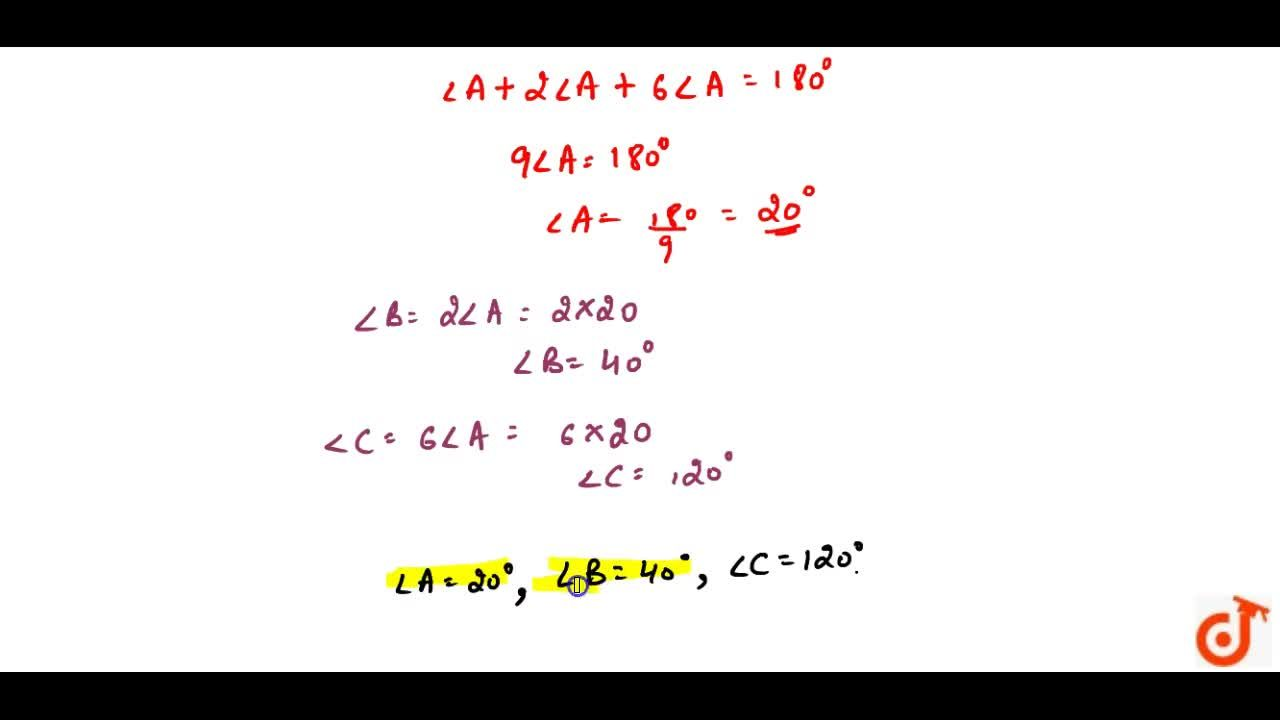 Solution for In a DeltaA B C ,,_C=3 ,_B=2(,_A+,_B). Find the