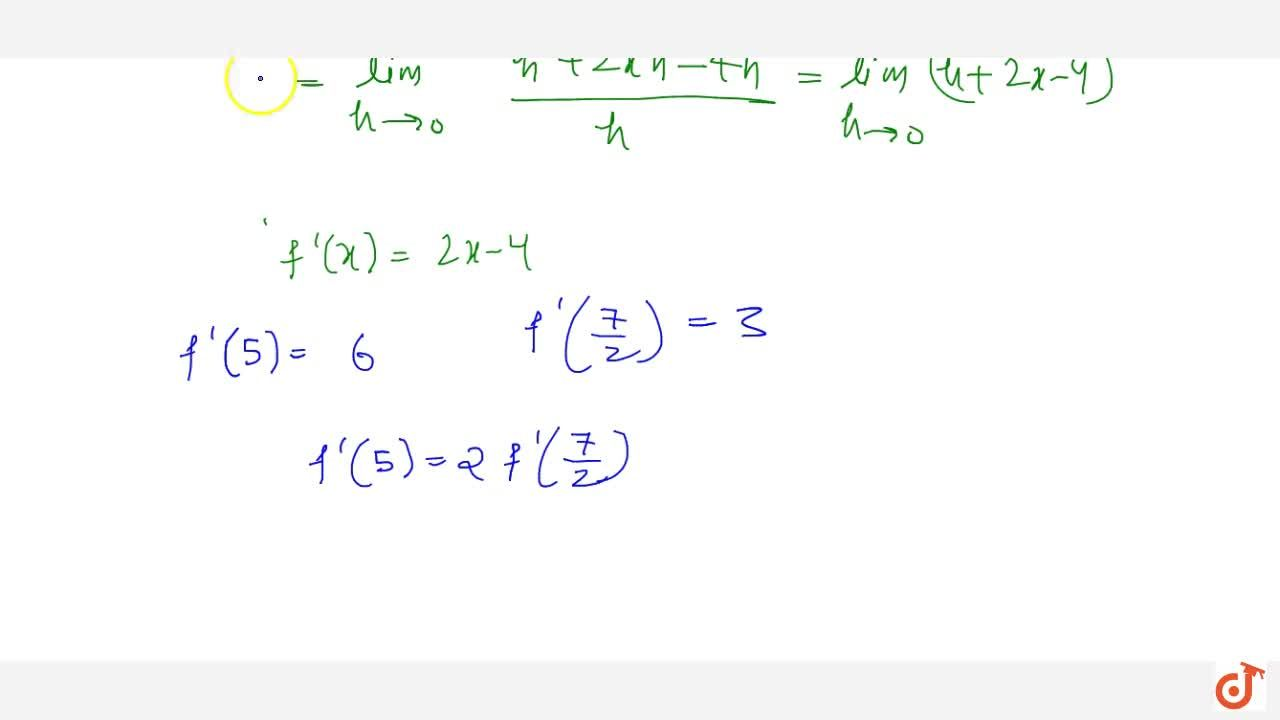 Solution for If f is defined by f(x)=x^2-4x+7 , show that