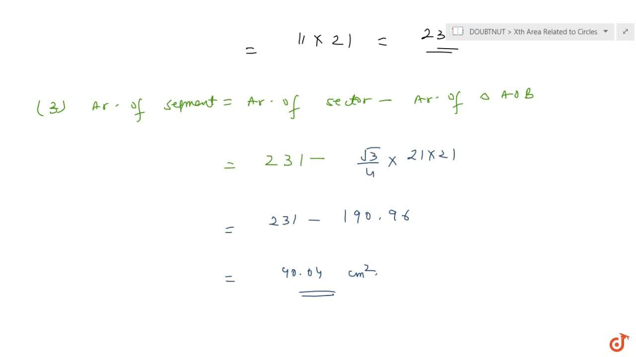 Solution for  In a circle of radius 21 cm, an arc subtends an