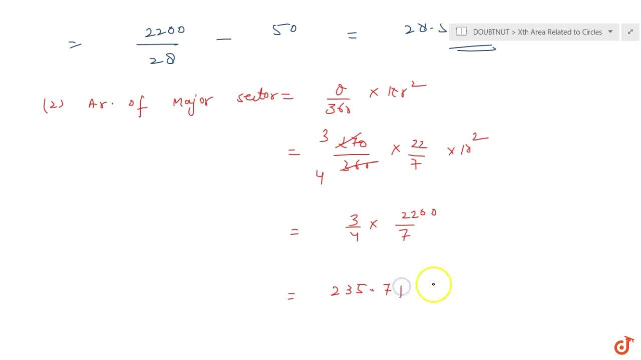 Solution for A chord of a circle of radius 10 cm subtends a r