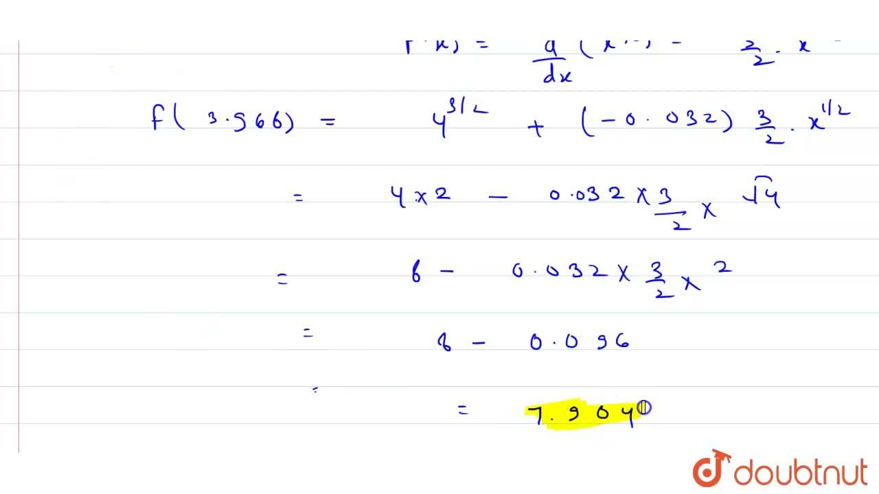 Using differentials, find the approximate value of (3. 968)^(3,2)