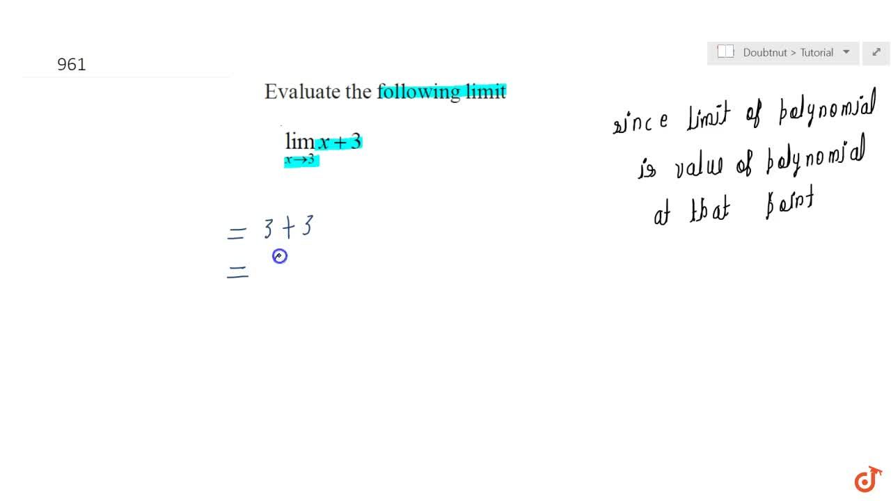Solution for (lim)_(x->3)x+3