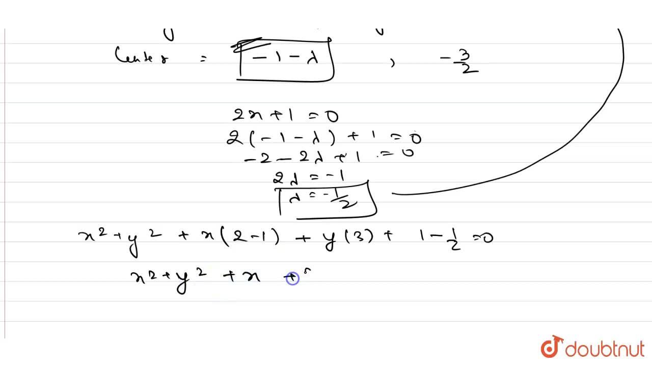 If the circle x^2+y^2+2x+3y+1=0 cuts x^2+y^2+4x+3y+2=0 at Aa n dB , then find the equation of the circle on A B as diameter.