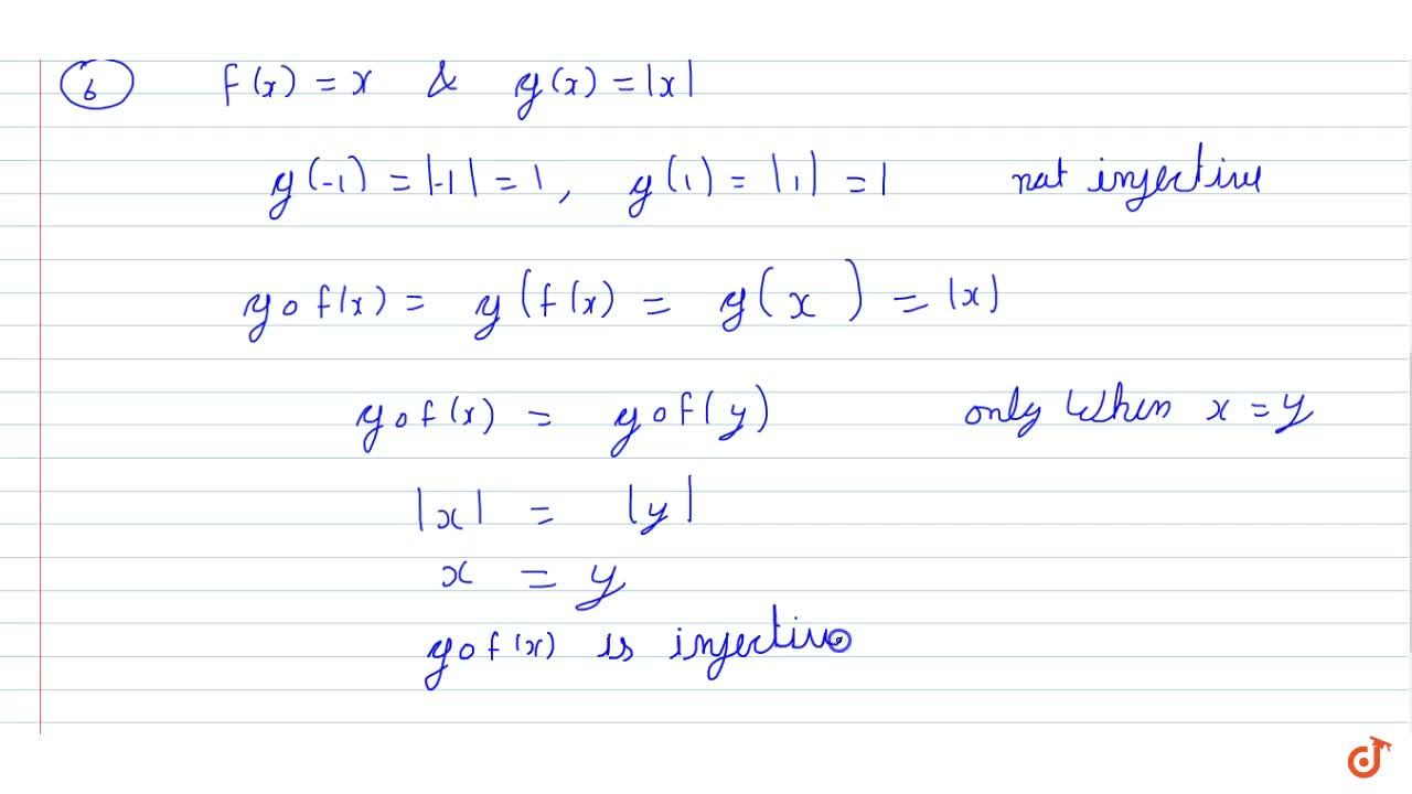"""Solution for  Give examples of two functions f: N->Z"""" and """"g:"""