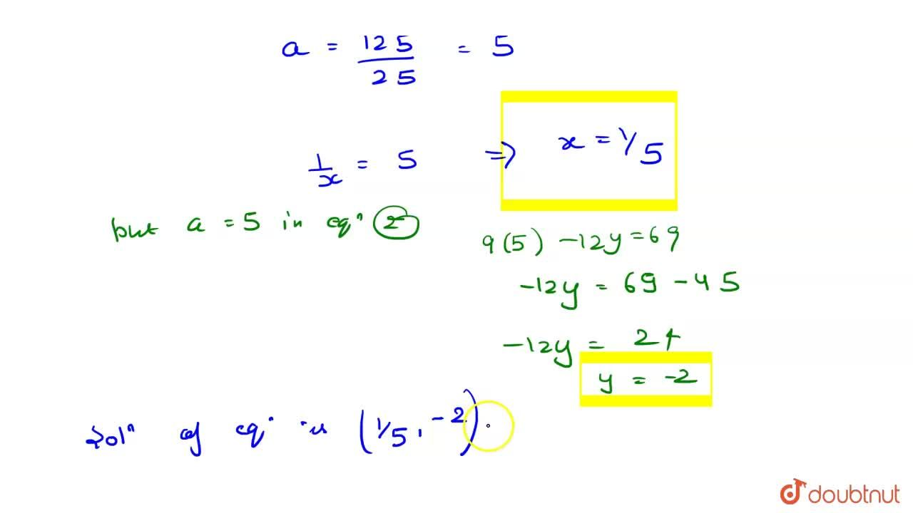 Solution for Solve the  following pairs of equations by reducin