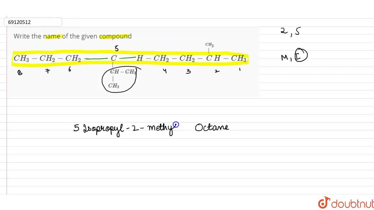 Solution for Write the name of the given compound  <br> CH_3-C