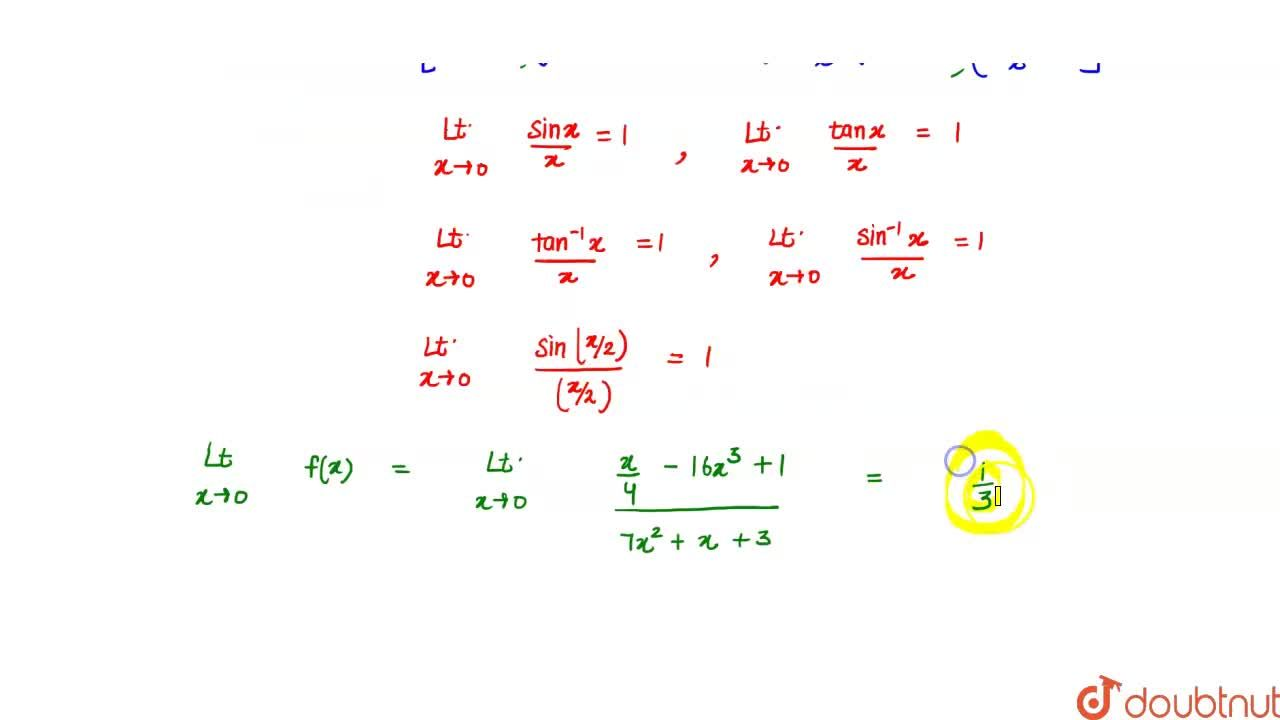 The value of `lim_(x->0)((sinx-tanx)^2-(1-cos2x)^4+x^5)/(7(tan^(- 1)x)^7+(sin^(- 1)x)^6+3sin^5x)` equal to :