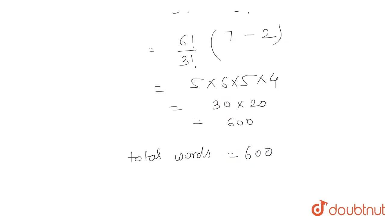 Solution for In how many ways can the letters of the word BANA