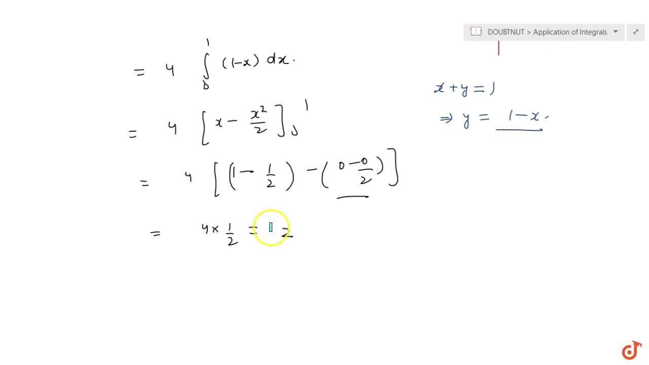 Solution for  Using the method of  integration find the area bo