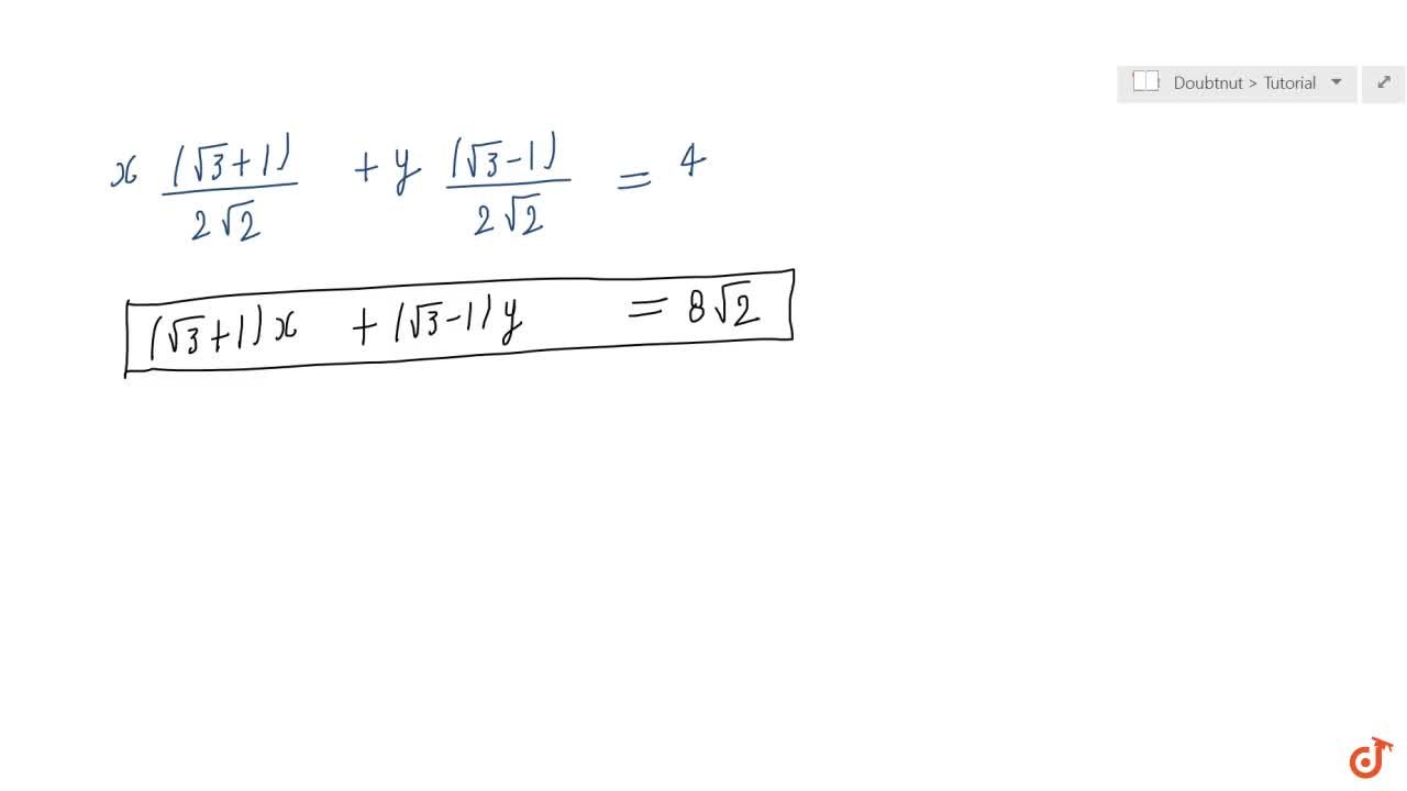 Solution for Find the equation of the line whose perpendicular