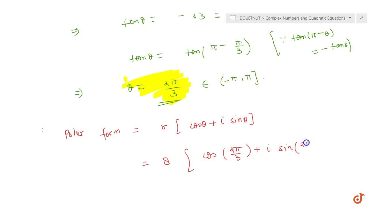 Solution for Convert the complex number (-16),(1+isqrt(3))int