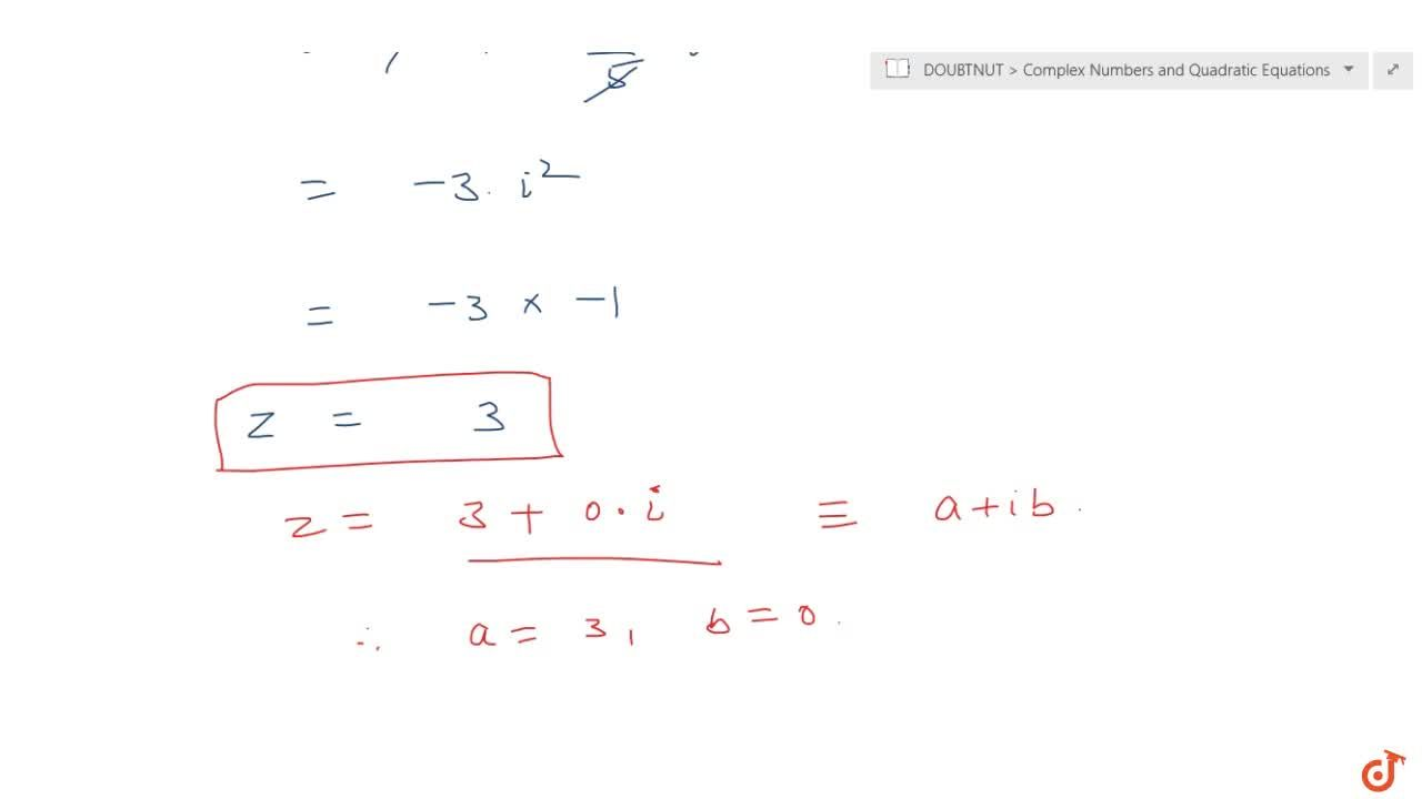 Express of the complex number in the form a + i b. <br>(5i)(-3,5i)