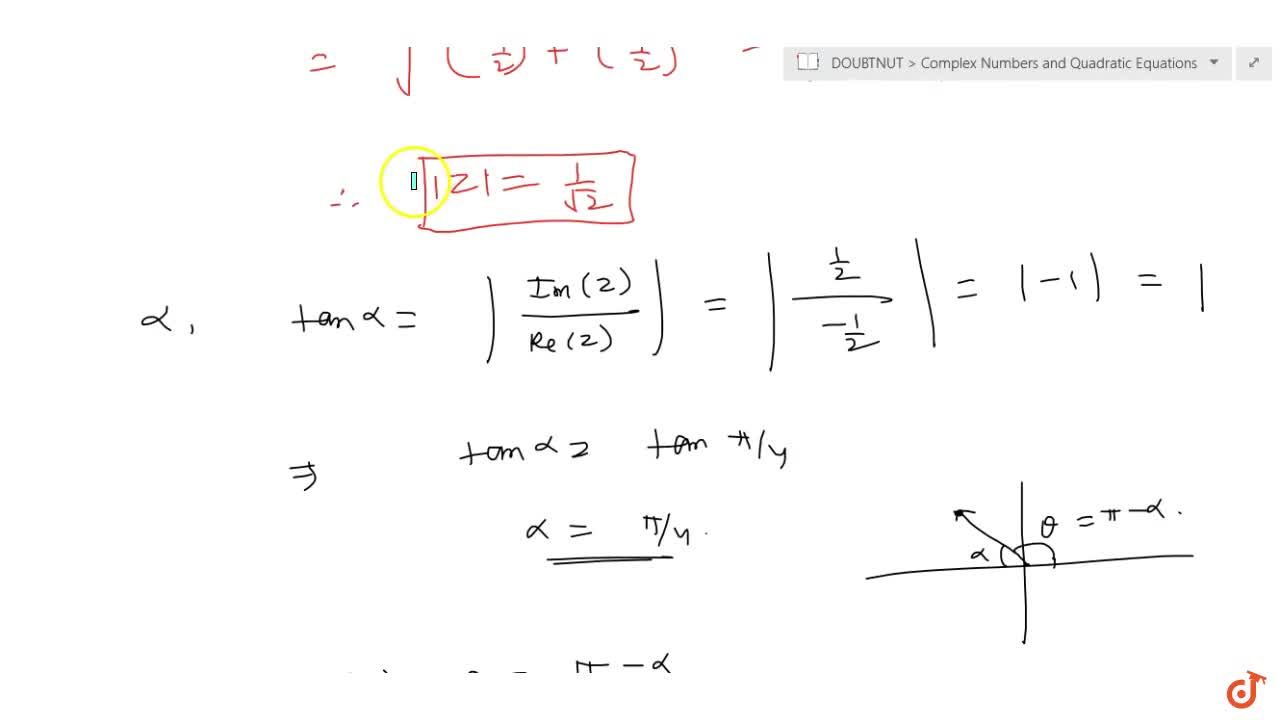 Solution for Find the modulus and argument of the complex numbe