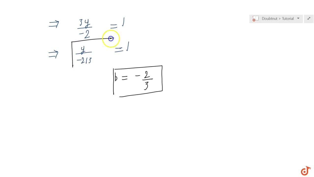 Solution for Reduce the following equations into intercept form