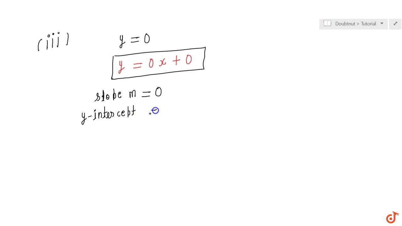 Solution for Reduce the following equations into slope  interce