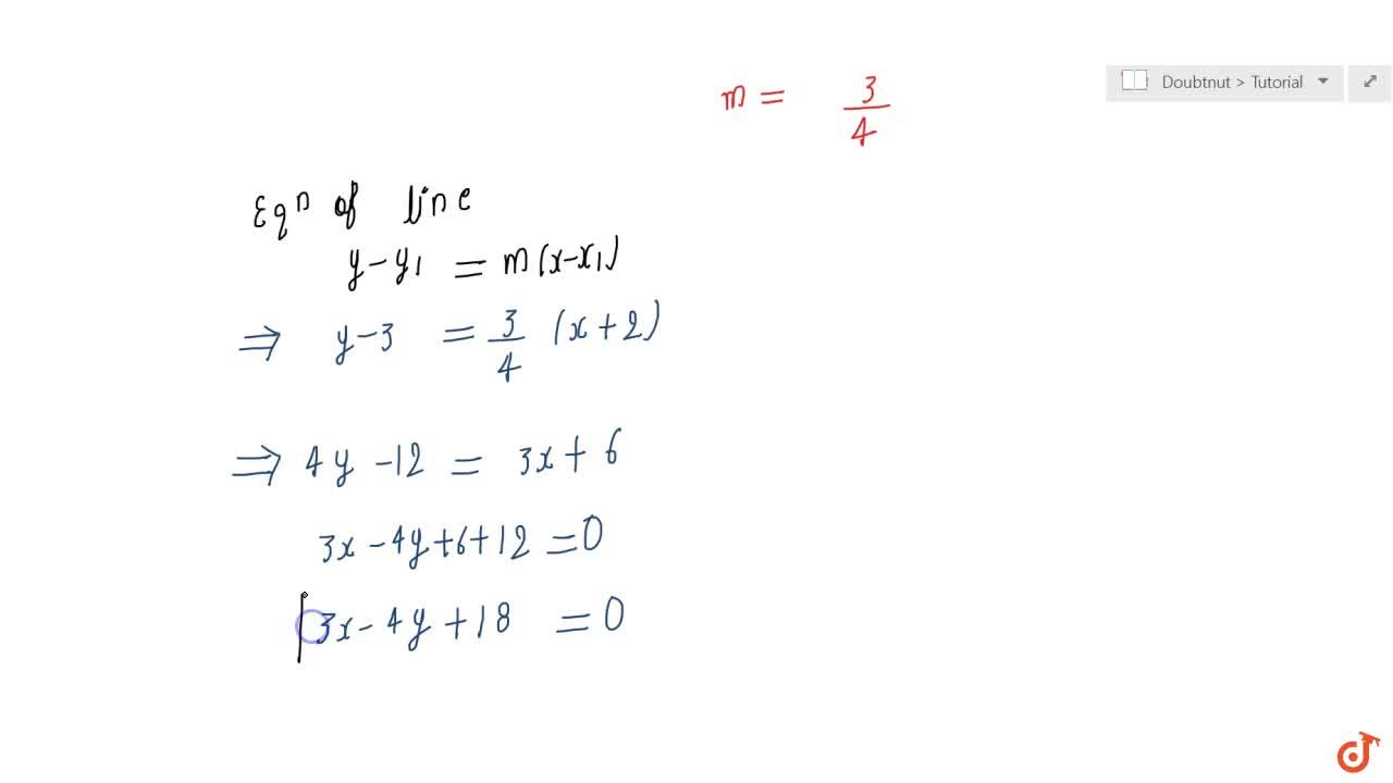 Solution for  Find equation of the line parallel to the line 3