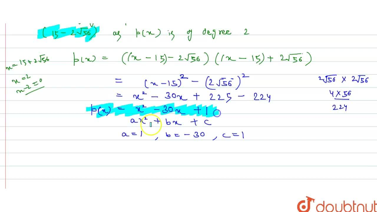 Solution for If one root of the quadratic equation ax^(2) + bx