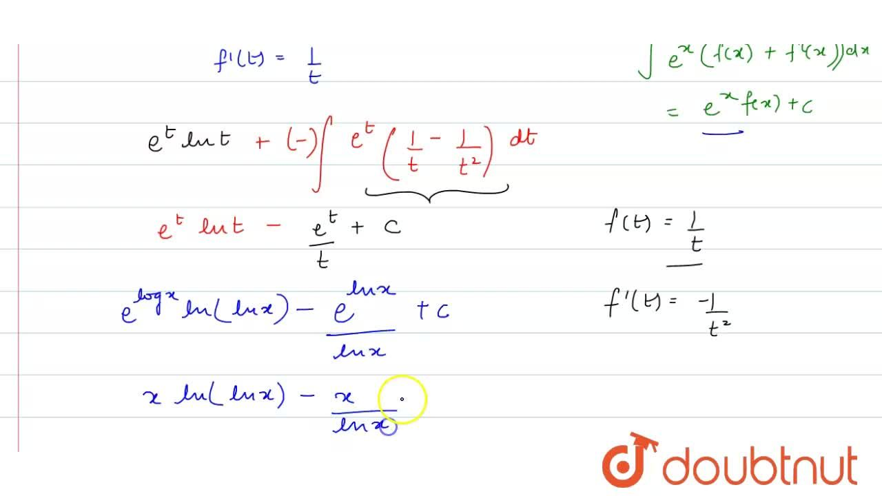 Solution for int[ln(lnx)+1,((lnx)^2)]dx