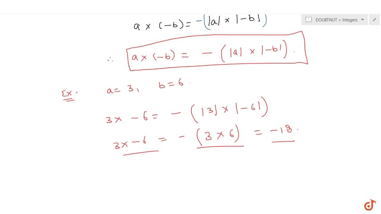 This Video will cover the following concepts - INTRODUCTION, MULTIPLICATION OF INTEGERS
