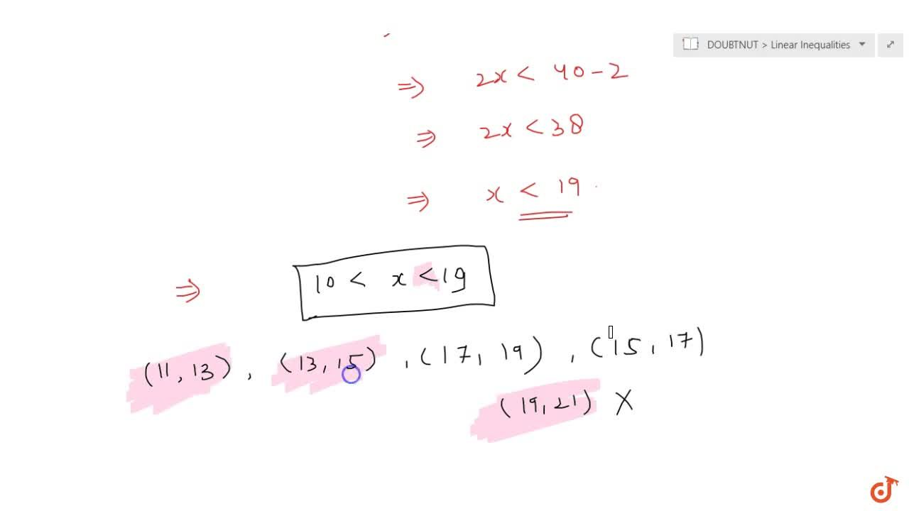 Solution for Find all pairs of  consecutive odd natural numbers