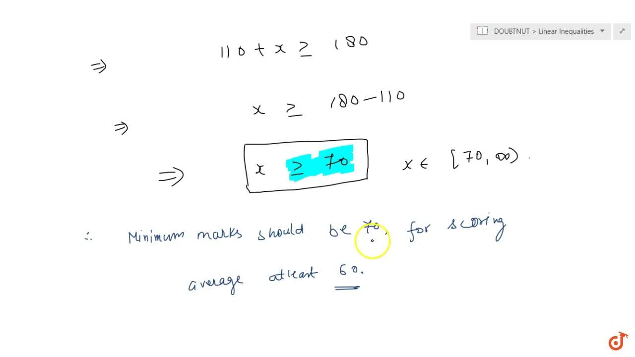 Solution for The marks obtained  by a student of Class XI in fi