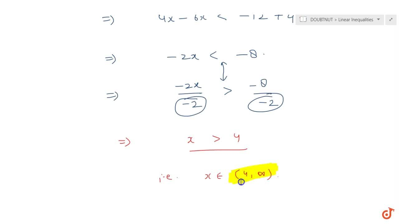 Solve the inequalities for real x : 2(2x + 3)  10 < 6(x -2)