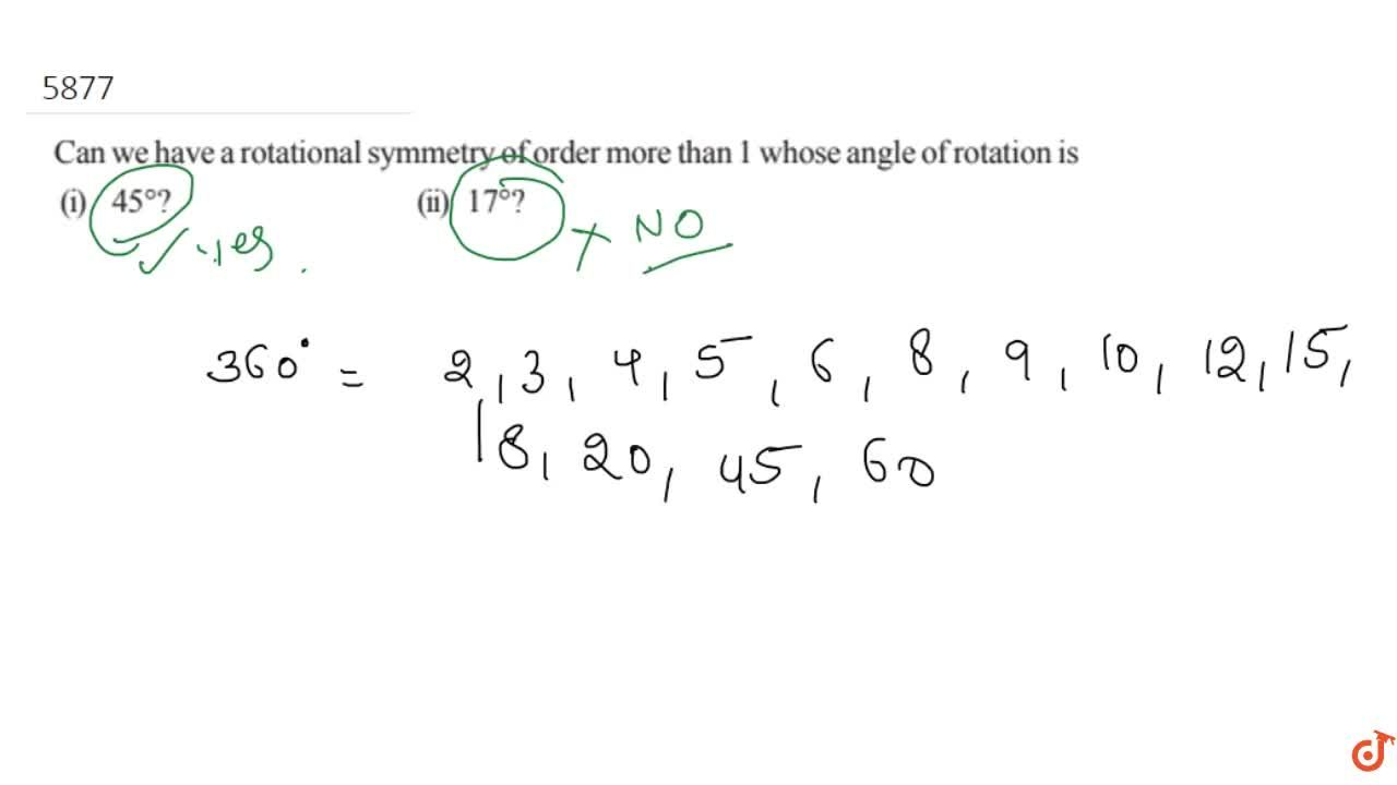 Solution for Can we have a rotational symmetry of order more th