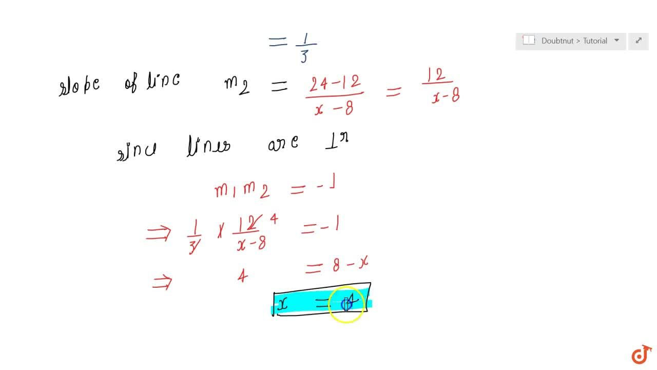Solution for Line through the points (2, 6)and (4, 8)is per