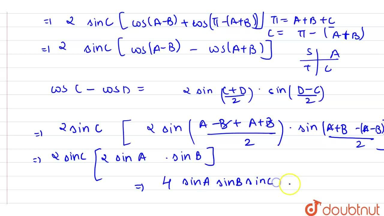 Solution for In triangle ABC, prove that sin(B+C-A)+sin(C+A-B