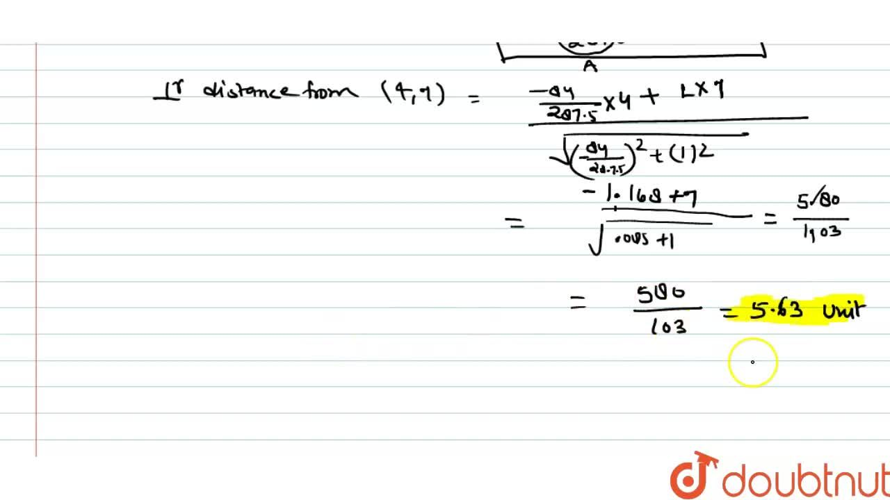 Solution for Find the length of the perpendicular draw from the