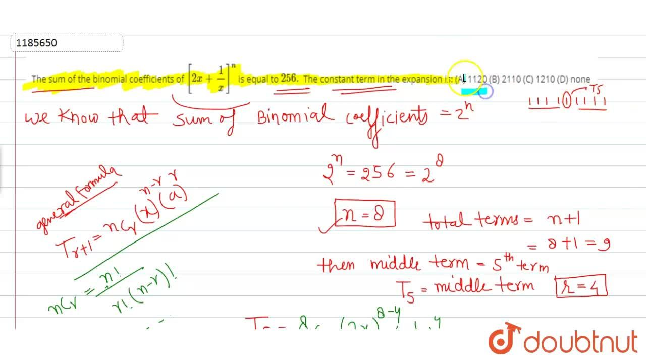 Solution for The sum of the binomial coefficients of [2x+1,x]^