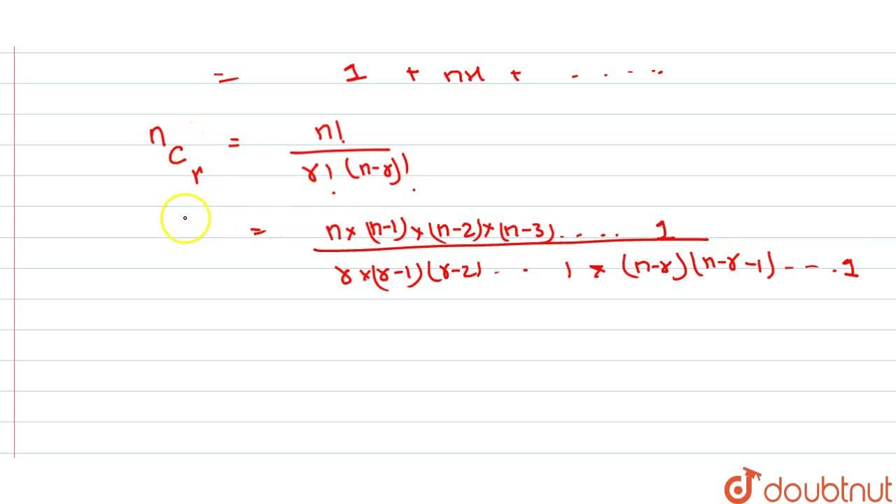 Solution for Binomial Expression And Theorem