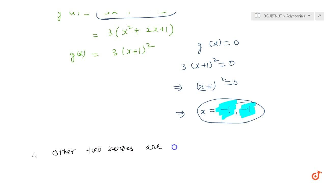 Solution for Obtain all other zeroes of 3x^4+6x^3-2x^2-10 x-5