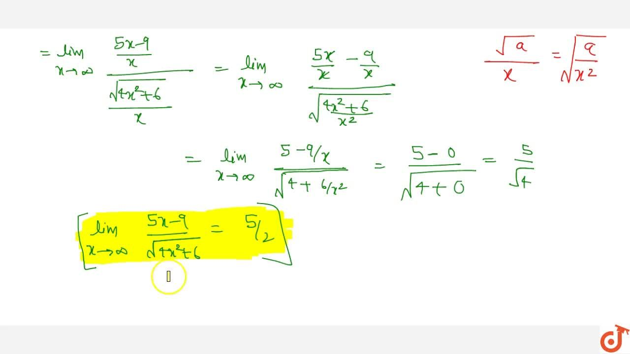 This Video will cover the following concepts - EVALUATION OF ALGEBRAIC LIMITS