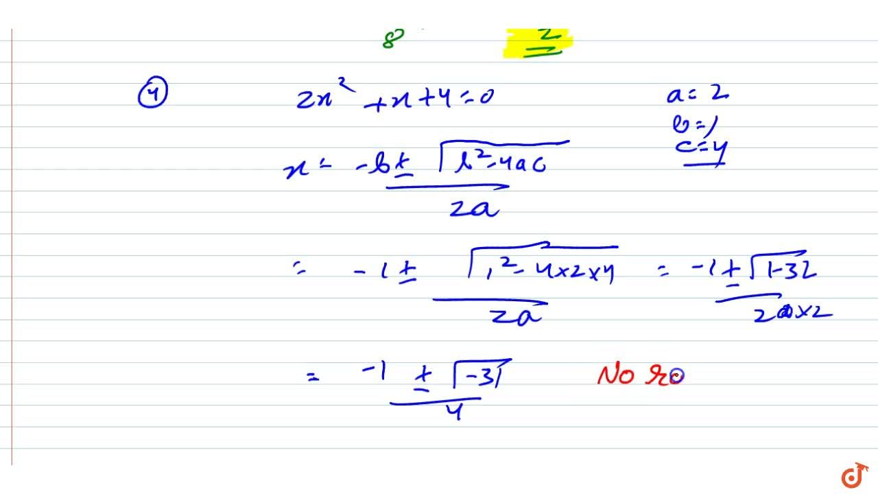 Solution for  Find the roots of the quadratic  equations by app