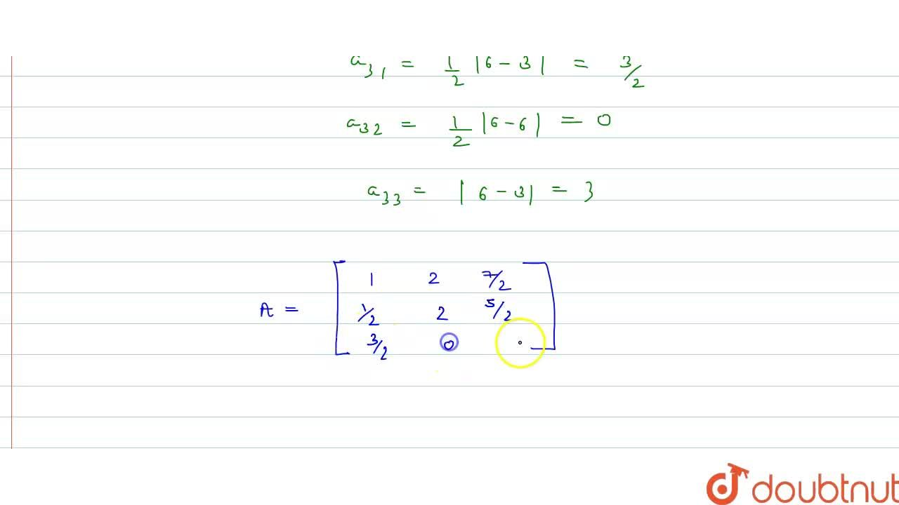 Solution for Construct a 3xx3 matrix whose elements are given